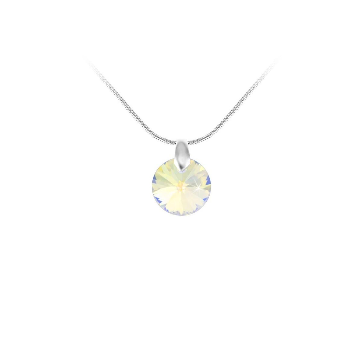 Collier argenté So Charm made with Crystal from Swarovski irisé