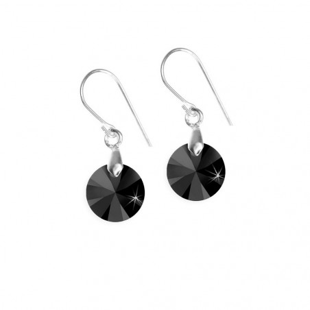 Boucles d'oreilles So Charm made with crystal from Swarovski noir