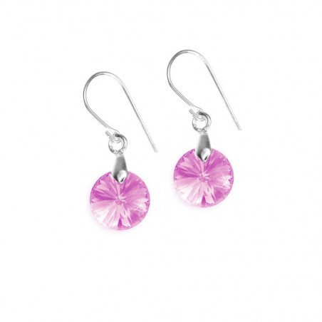 Boucles d'oreilles So Charm made with crystal from Swarovski rose
