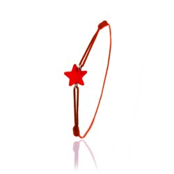 Red elastic bracelet and...