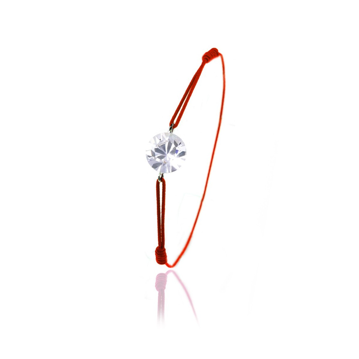 Bracelet élastique rouge So Charm made with Crystal from Swarovski