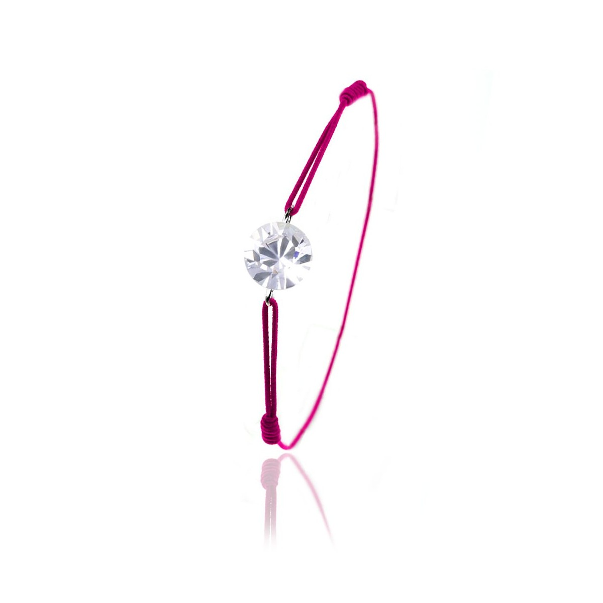 Bracelet élastique rose So Charm made with Crystal from Swarovski