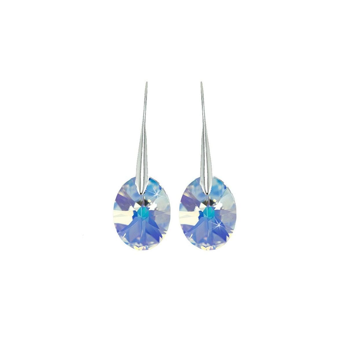 BS008-SE003-IRIS Boucles d'oreilles So Charm ornées d'un cristal irisé made with crystal from Swarovski
