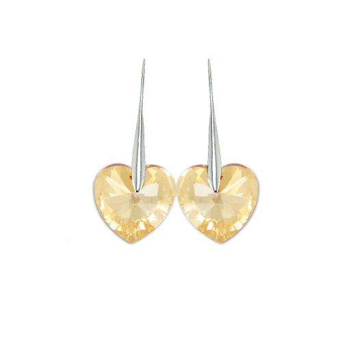 Boucles d'oreilles So Charm ornées d'un coeur golden made with crystal from Swarovski