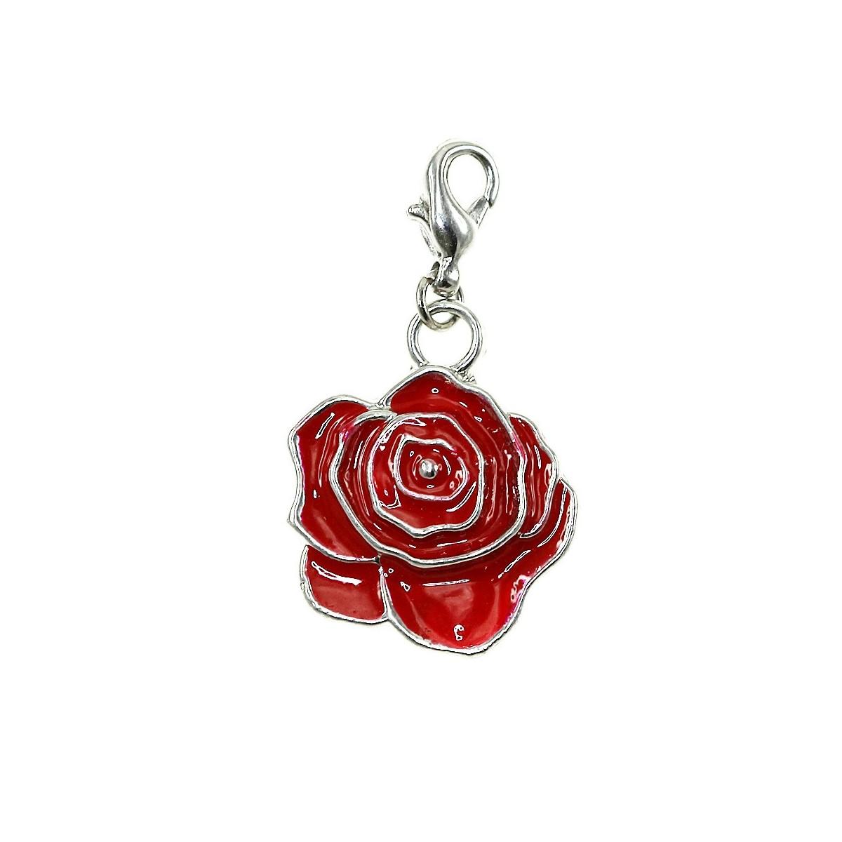 Breloque charm fleur rouge So Charm