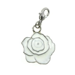 BR01 white flower charm charm