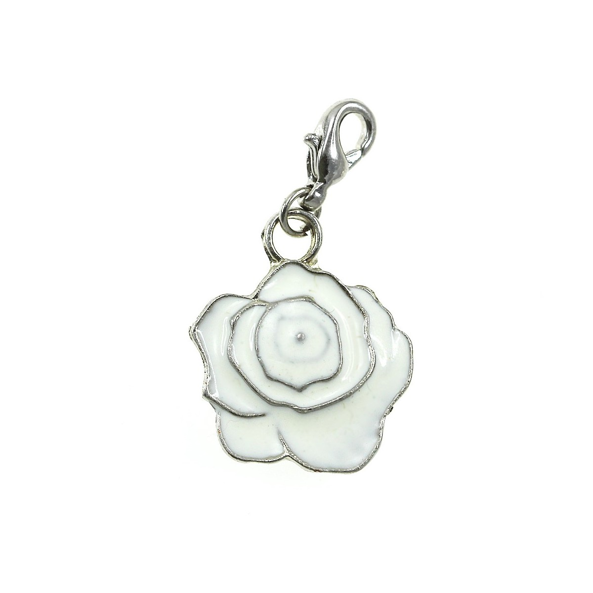 Breloque charm fleur blanche So Charm