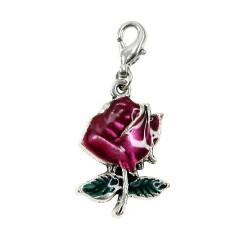 Breloque charm rose BR01