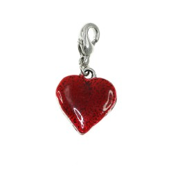 BR01 red heart charm charm