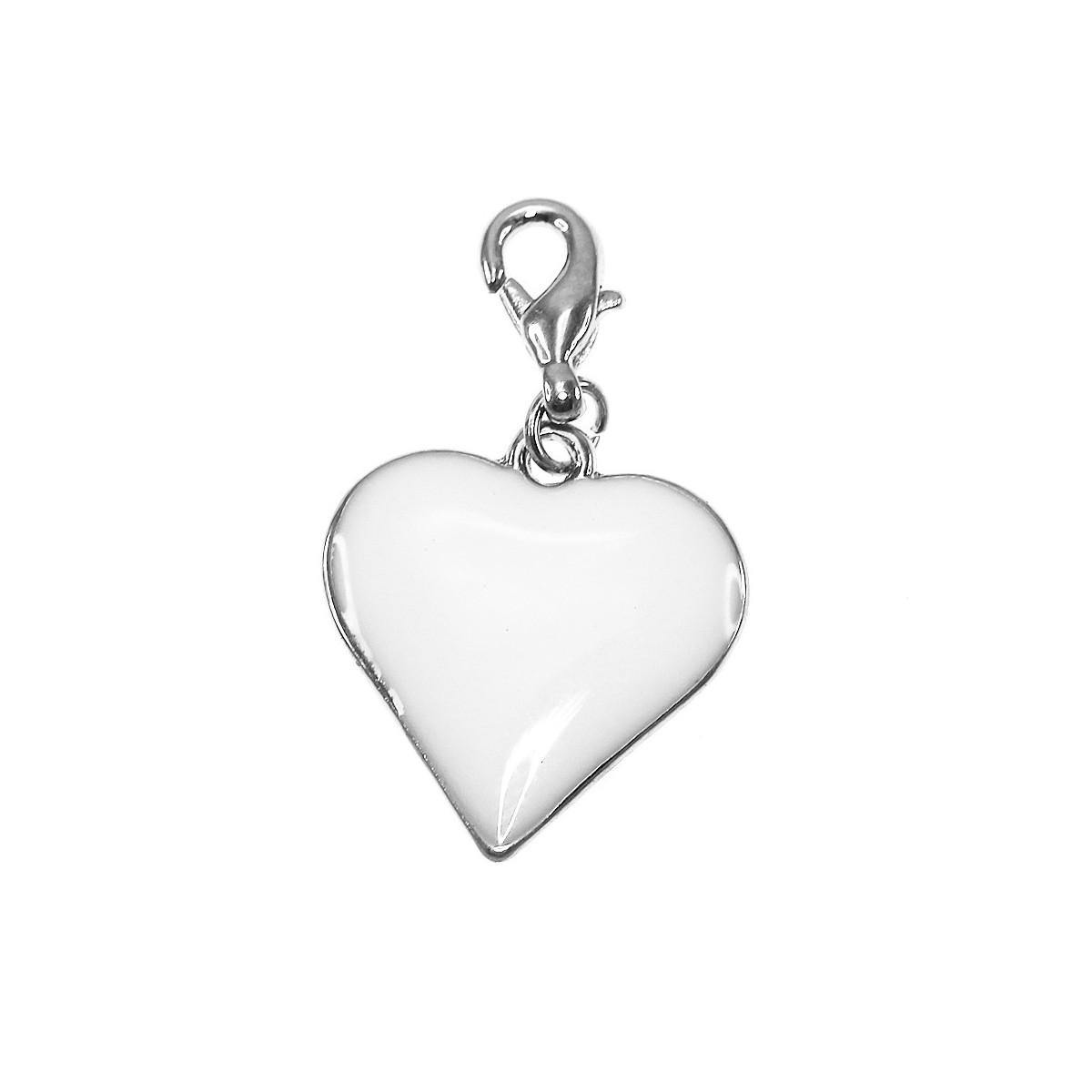 Breloque charm coeur blanc So Charm
