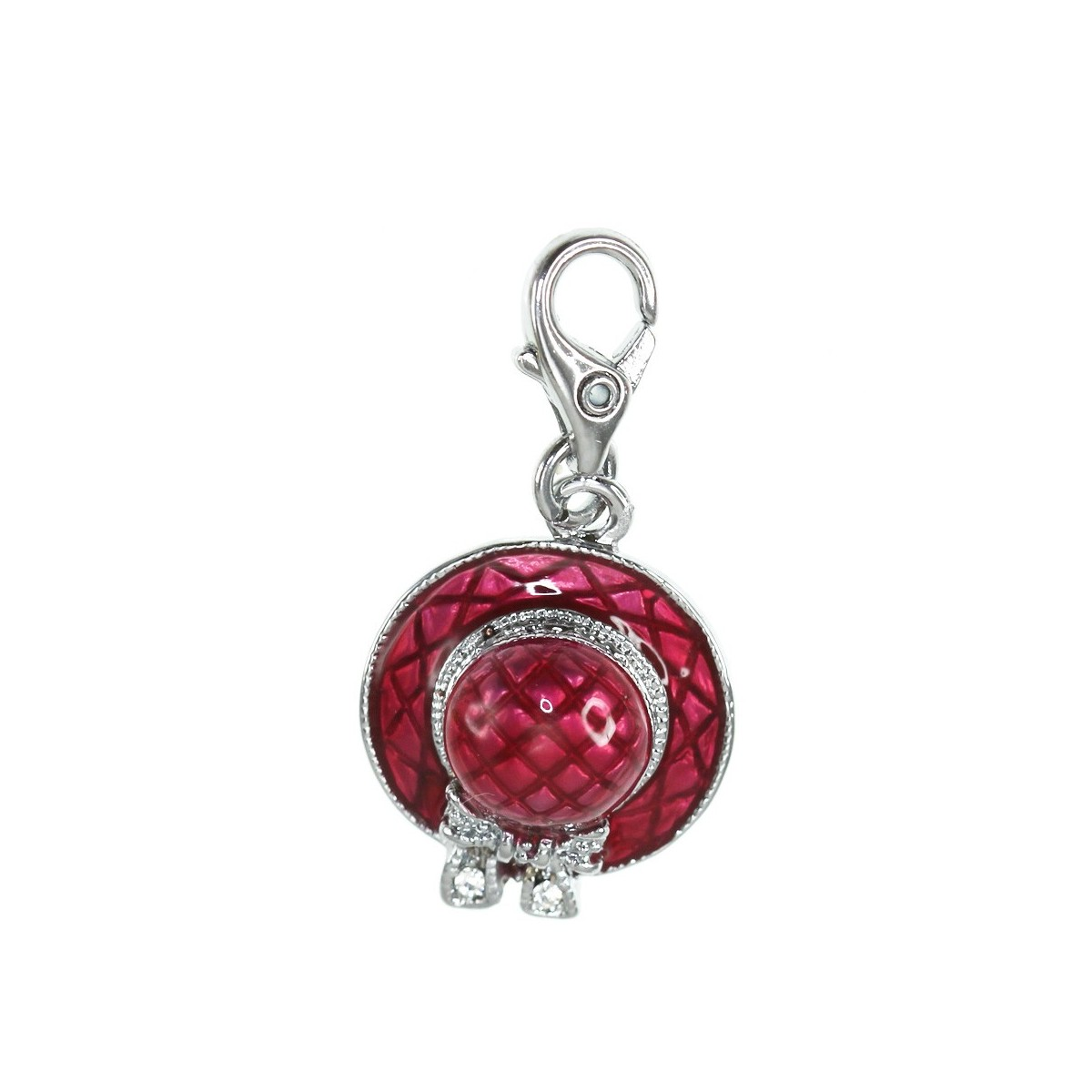 CH1020S Charm chapeau rouge So Charm made with Crystal from Swarovski
