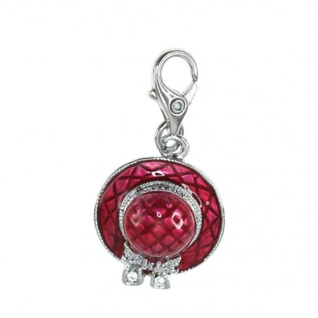 Charm chapeau rouge So Charm made with Crystal from Swarovski