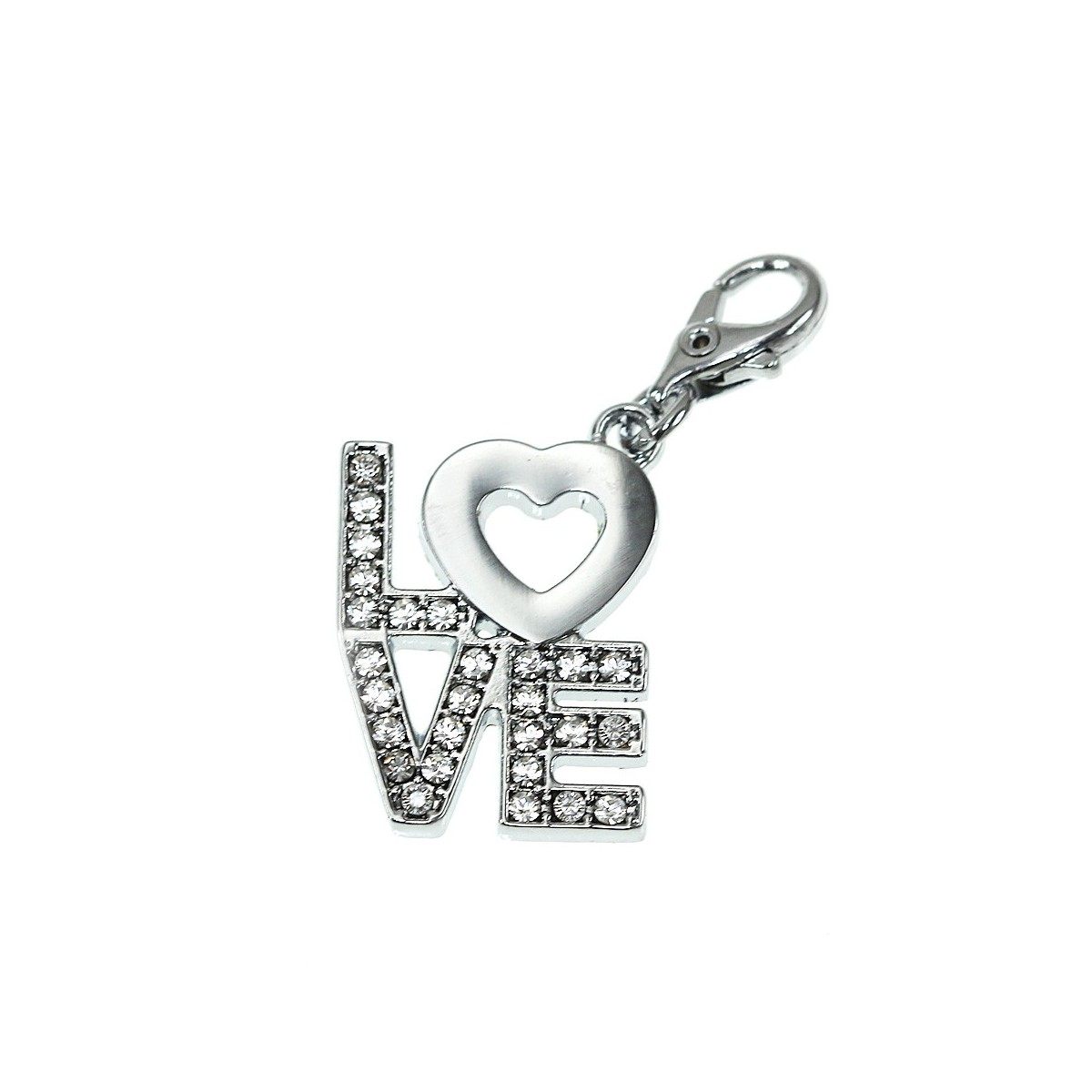 Charm LOVE So Charm made with Crystal from Swarovski