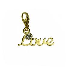 Love and rhinestone charm...
