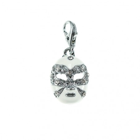Charm masque venitien blanc So Charm made with Crystal from Swarovski