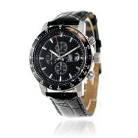 Montre acier chronographe sertie d'un DIAMANT