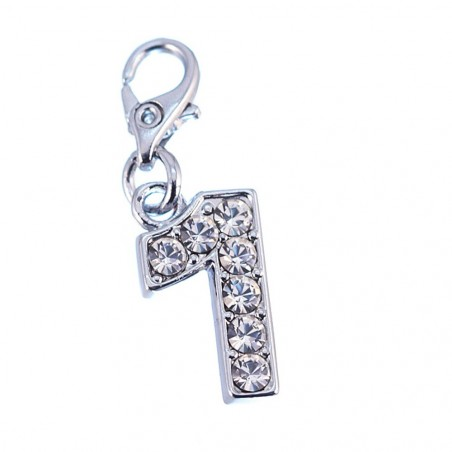 Charm Chiffre 1 So Charm made with Crystal from Swarovski