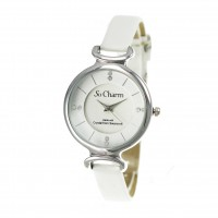 Montre femme bracelet blanc So Charm made with crystal from Swarovski