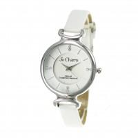 Montre femme bracelet blanc So Charm made with crystal from Swarovski