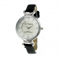 Montre femme bracelet noir So Charm made with crystal from Swarovski