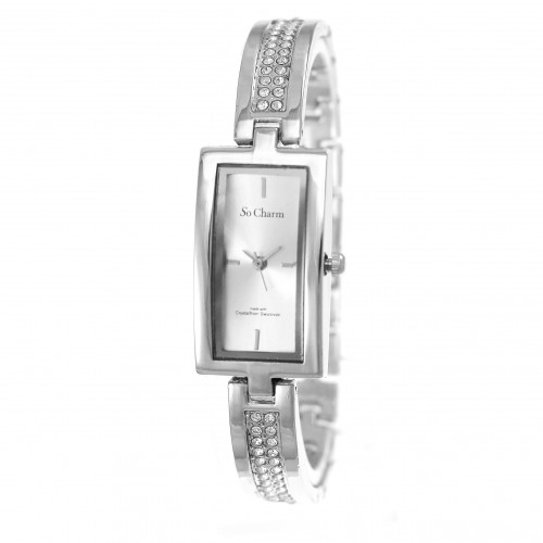 Montre femme rectangle So Charm made with crystal from Swarovski