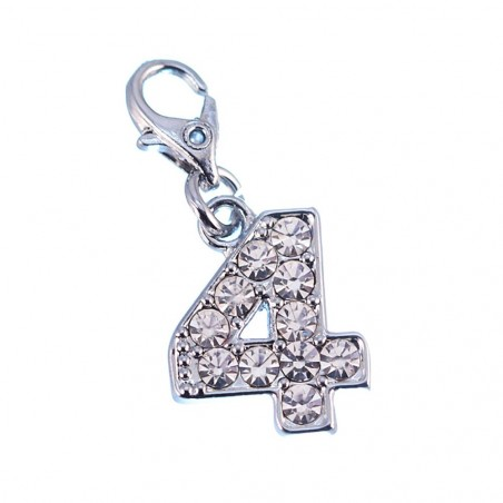 Charm Chiffre 4 So Charm made with Crystal from Swarovski