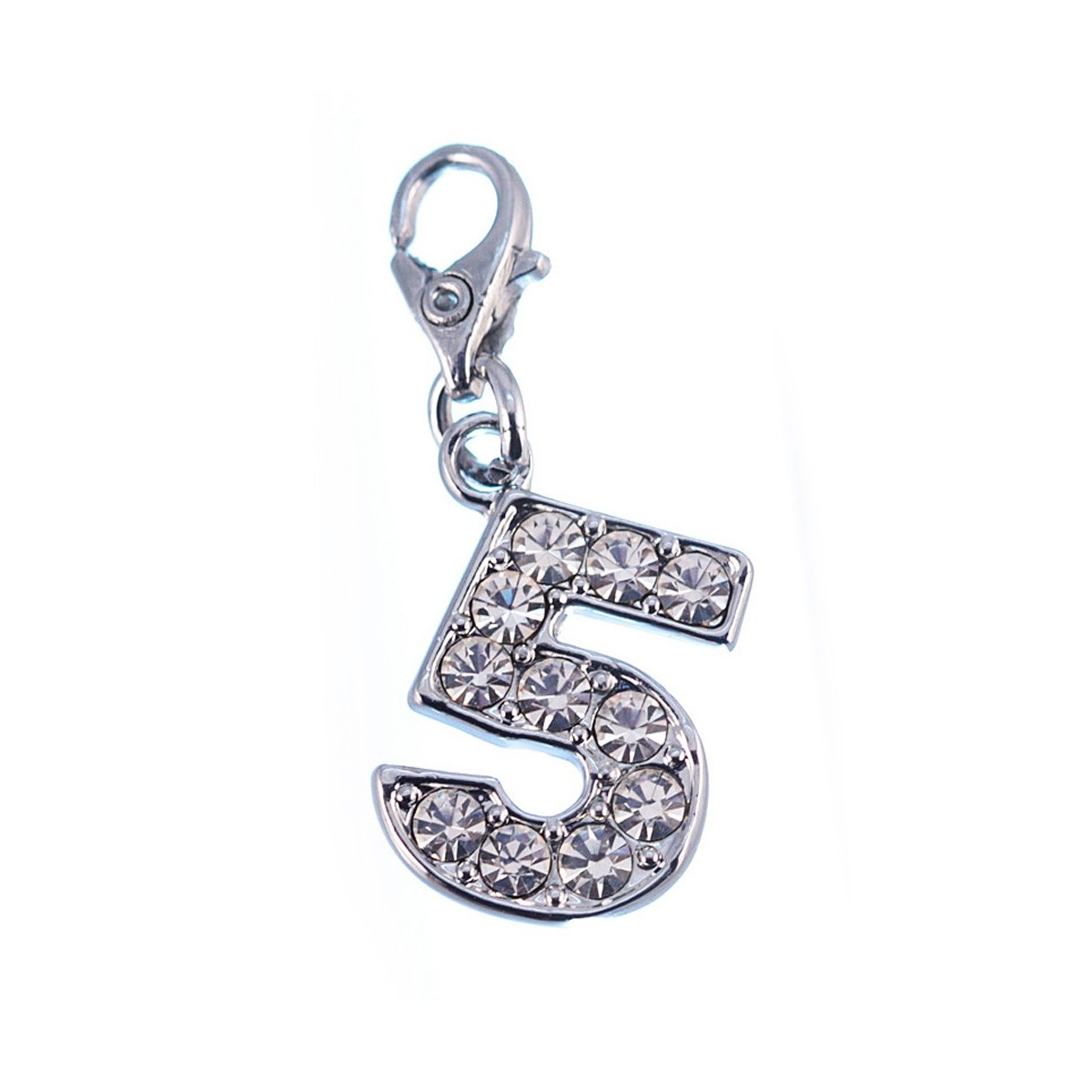Charm Chiffre 5 So Charm made with Crystal from Swarovski