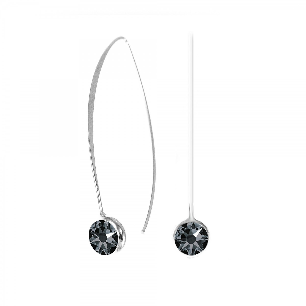 boucles d 39 oreilles point de lumi re noir so charm made with crystal from swarovski so charm. Black Bedroom Furniture Sets. Home Design Ideas
