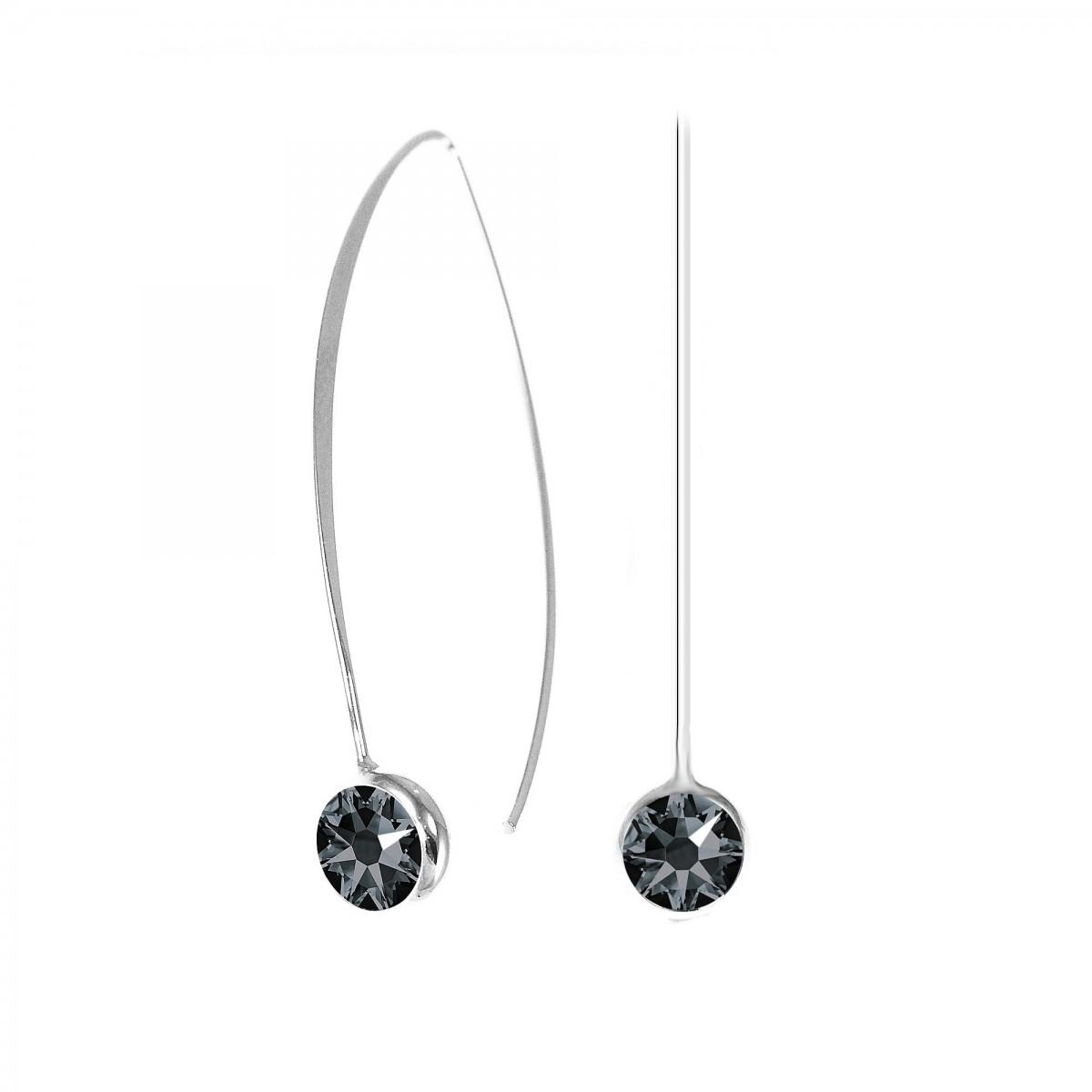 boucles d 39 oreilles point de lumi re noir so charm orn es de cristaux swarovski. Black Bedroom Furniture Sets. Home Design Ideas