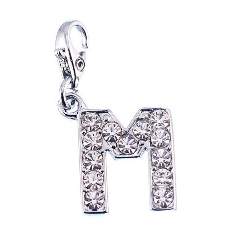 Charm Lettre M strass So Charm