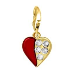 Charm coeur rouge BR01 orné...