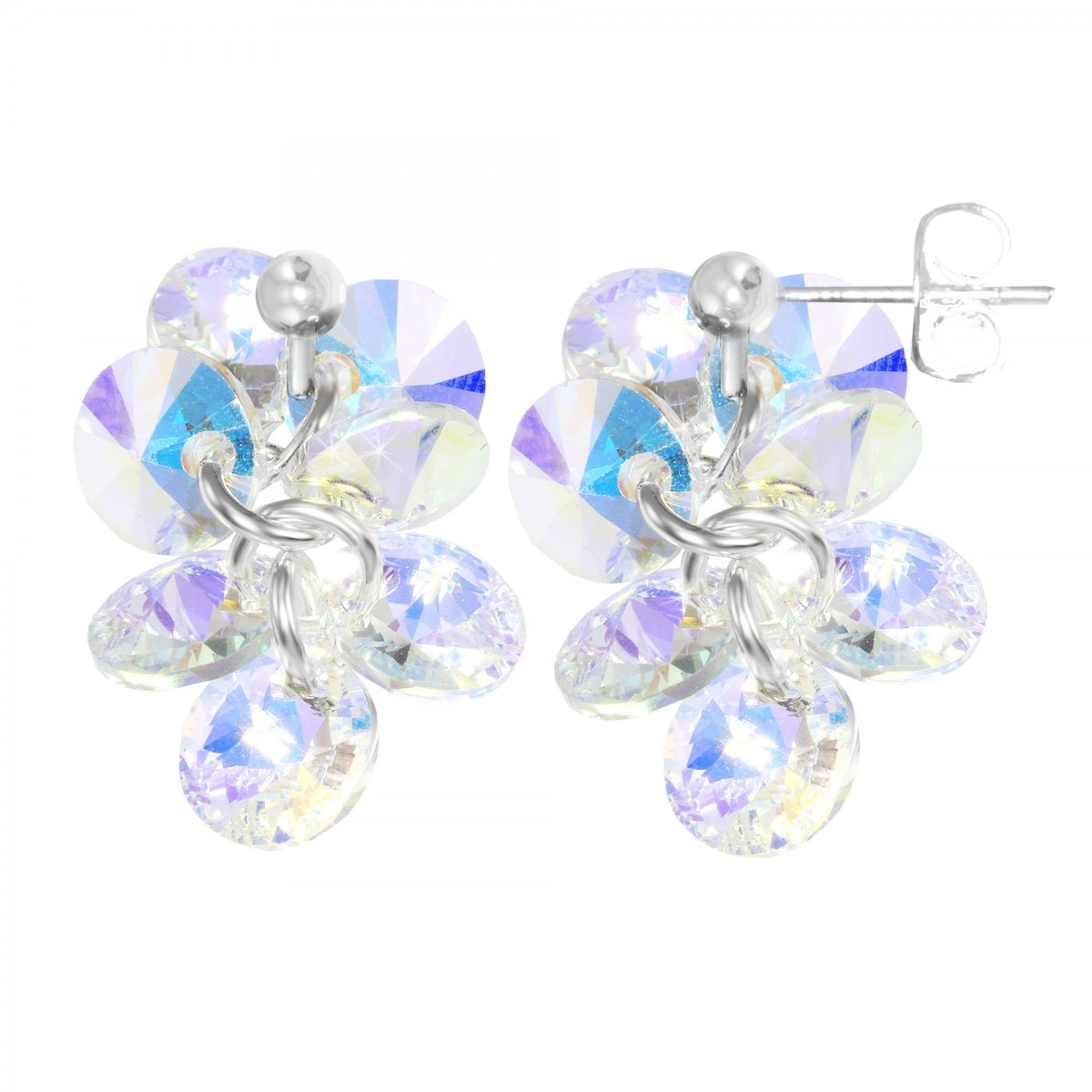 Boucles d'oreilles mode So Charm made with crystal from Swarovski irisé