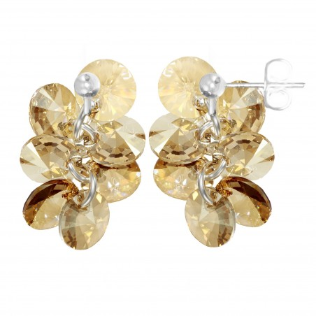Boucles d'oreilles mode So Charm made with crystal from Swarovski golden