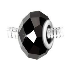 Charm perle cristal noir à...