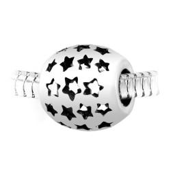 Charm perle étoiles acier...