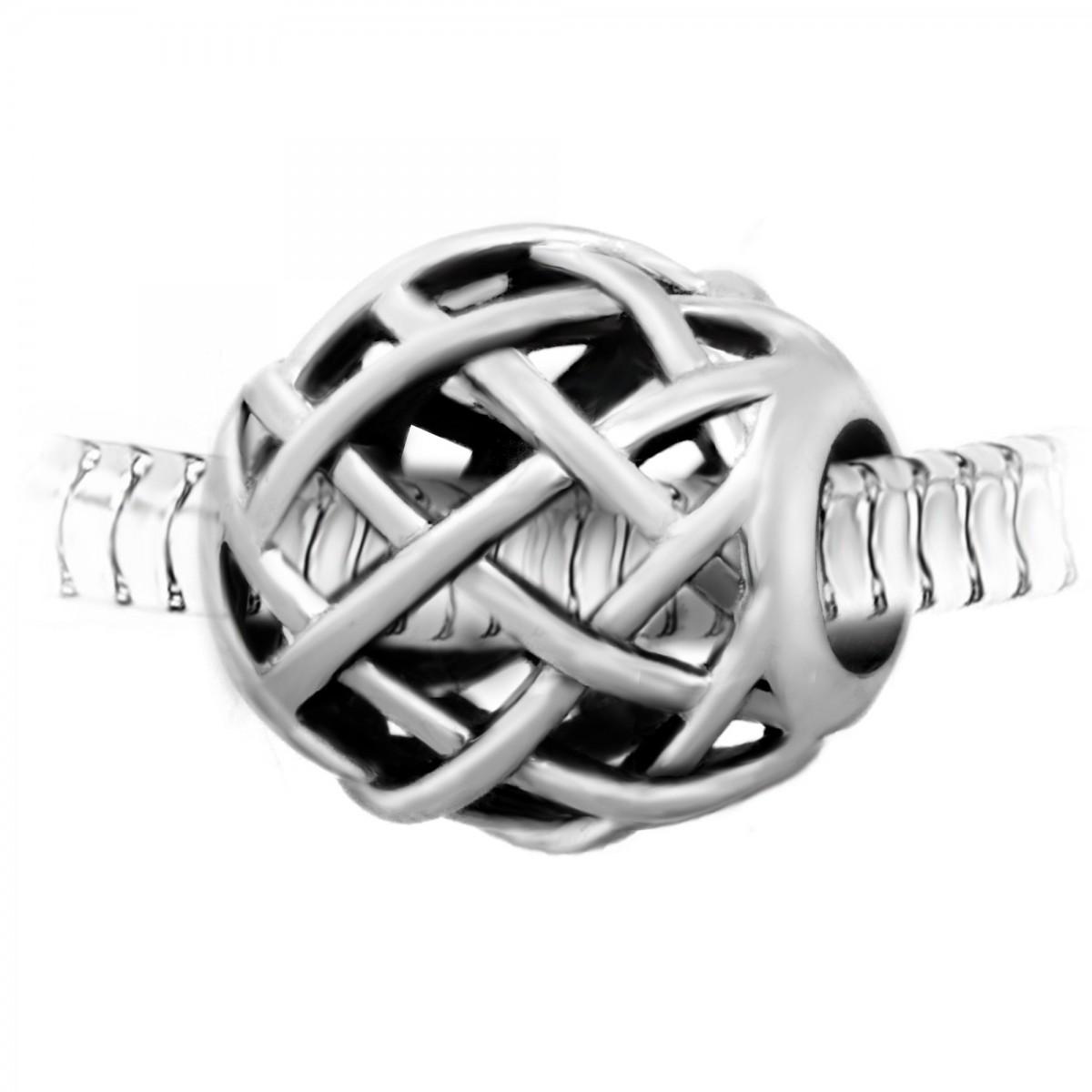 BEA0060 Charm perle acier par So Charm