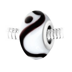 Charm perle spirale verre...