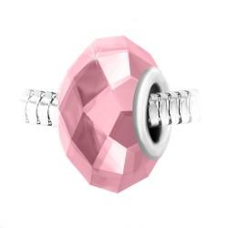 Charm perle cristal rose à...
