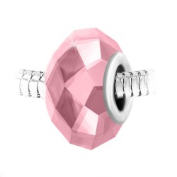 Faceted pink crystal and...