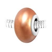 Charm perle  verre doré et acier par So Charm