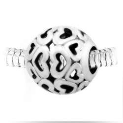 BR01 perla cuori in acciaio...
