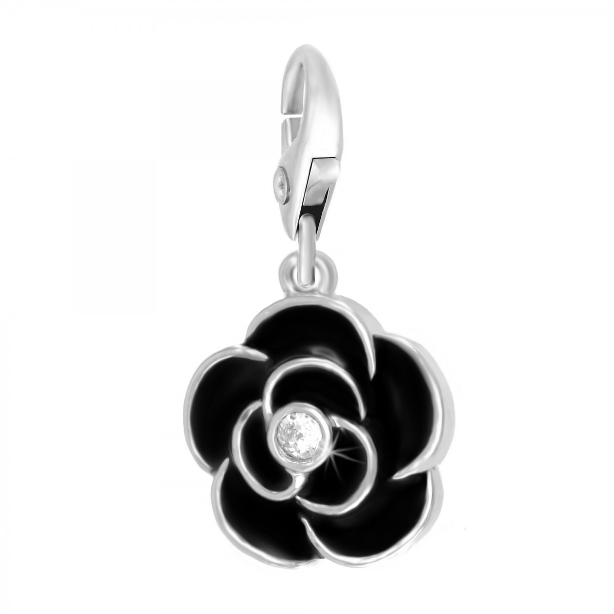 Charm Rose Noire So Charm made with crystal from Swarovksi