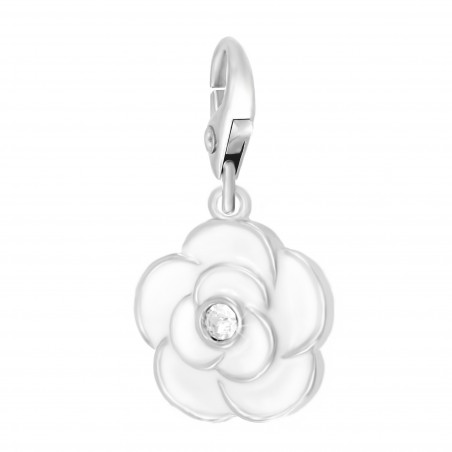 Charm Rose Blanche So Charm made with Crystal from Swarovski