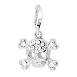 BR01 Skull Charm decorated...