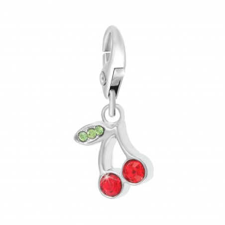 Charm cerises So Charm made with crystal from Swarovski