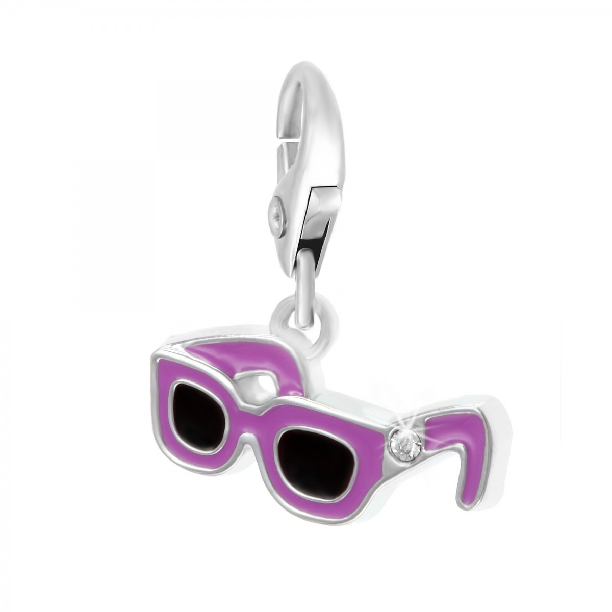 Charm Lunettes mauves So Charm made with Crystal from Swarovski