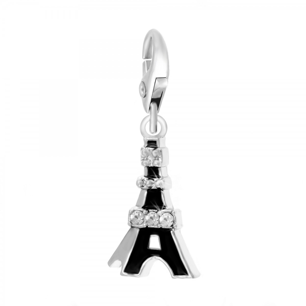 Charm Tour Eiffel noire So Charm made with Crystal from Swarovski