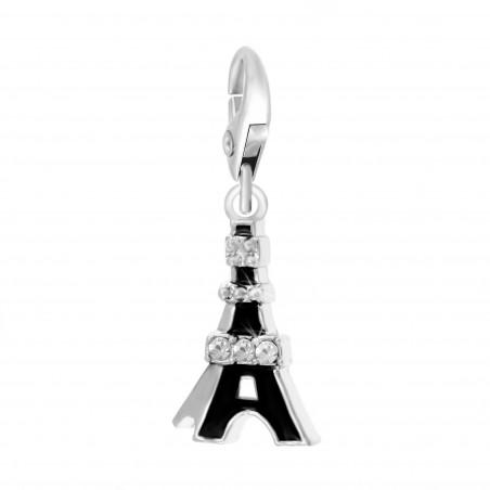Charm Tour Eiffel noire So Charm orné de cristaux SWAROVSKI® ELEMENTS