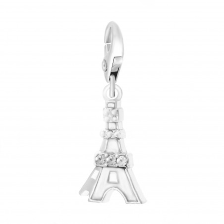 Charm Tour Eiffel blanche So Charm made with Crystal from Swarovski