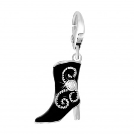 Charm botte noir So Charm made with Crystal from Swarovski